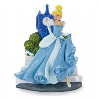 Cinderella with Clock Aquarium Ornament